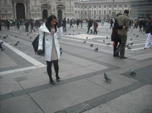 Milan Fashion Piazza del Duomo Square