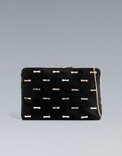 Zara clutch bag with bows
