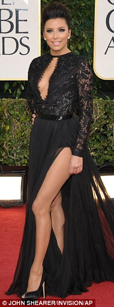 Eva Longora Golden Globes 2013 Fashion Style