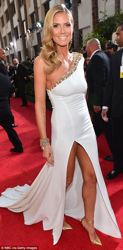 Heidi Klum Golden Globes 2013 Fashion