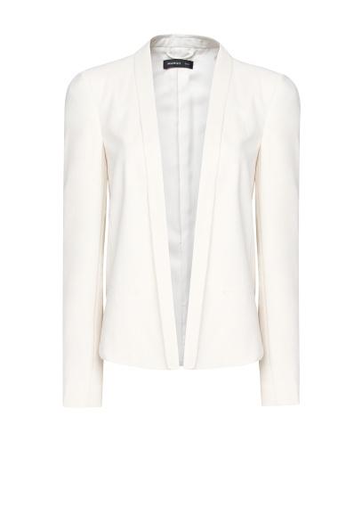 Mango Spring Summer 2013 Minimalist Cut White Blazer Jacket