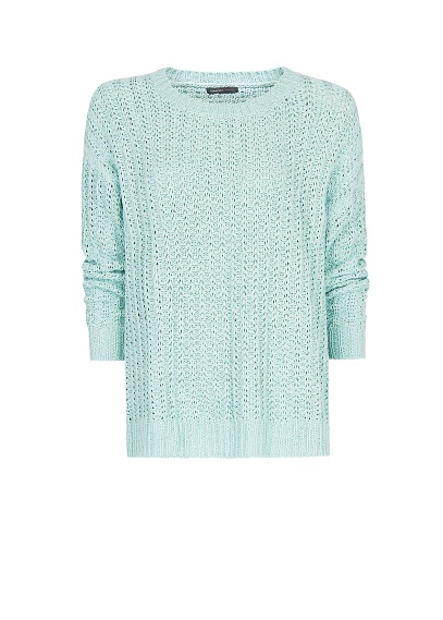 Mango Spring 2013 Mint Green Ribbed Sweater Jumper Top