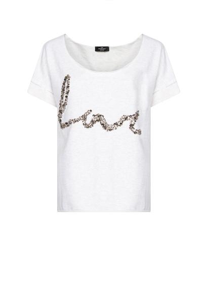 Mango Spring 2013 Crystal Embellished Love Slogan Tshirt Sweatshirt