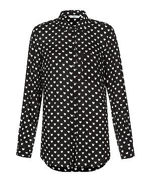 New Look Heart Print Shirt Victoria Beckham Burberry Style