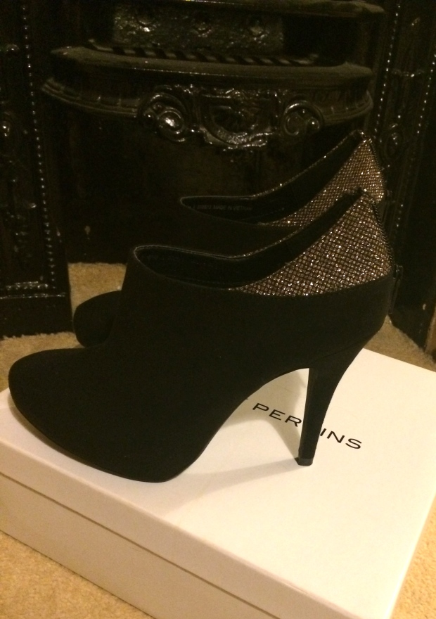 Black Gold Sparkly Sparkle Glitter Shoe Boots Dorothy Perkins
