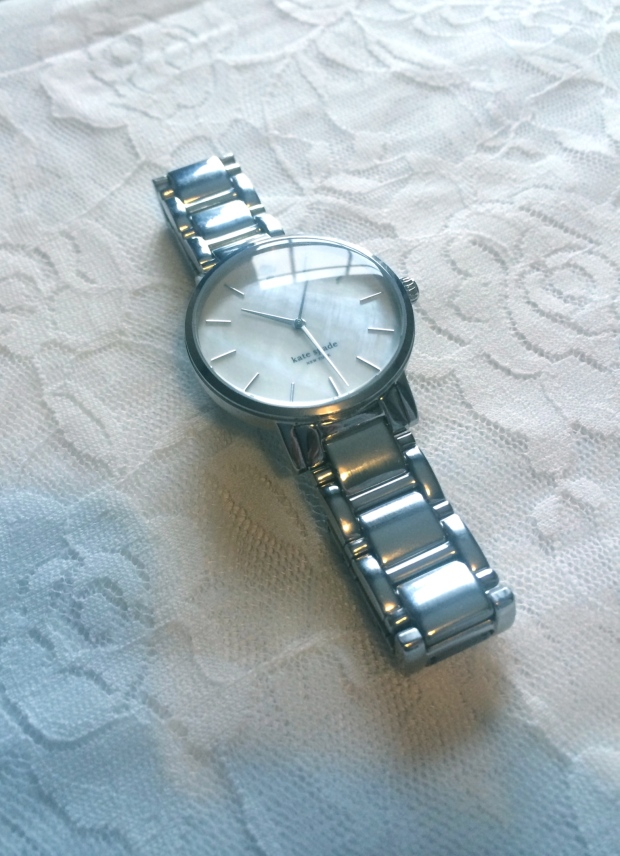 Kate Spade New York NY Silver Gramercy Watch Mother of Pearl from the UK