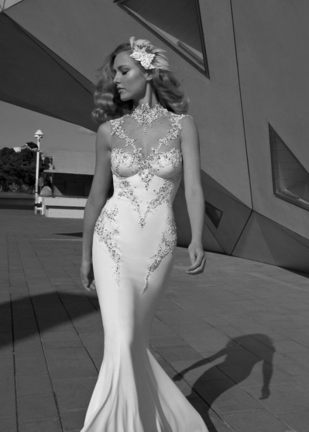 Diamond Galia Lahav Mermaid Wedding Dress Homage to the Sizzling 1920s