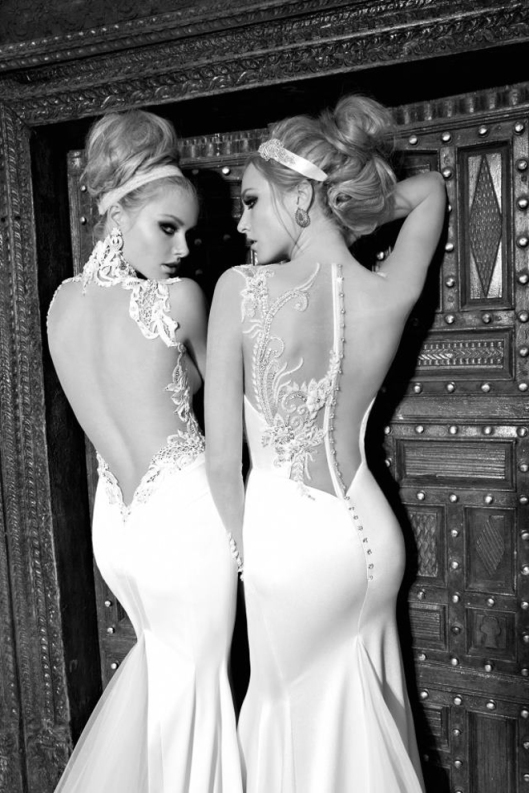 Nicole and Angelina Galia Lahav Backless Wedding Dresses St Tropez Cruise Collection