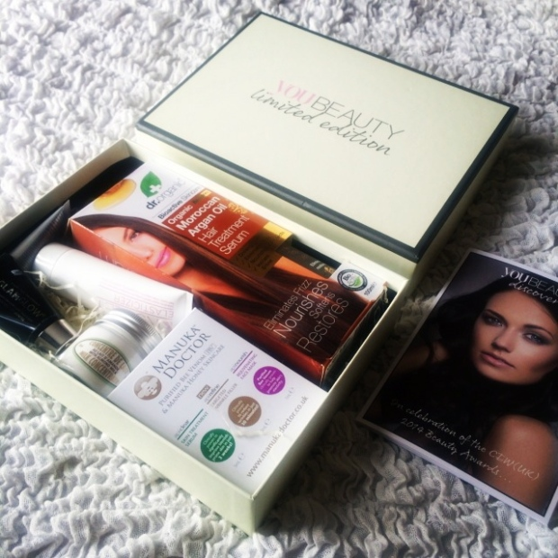 YOU Beauty Discovery CEW(UK)2014 Limited Edition Beauty Box Review #YBDCEW