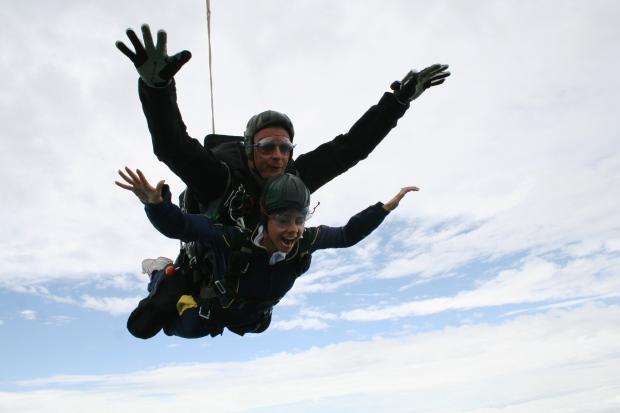 Skydive Sibson Airfield Peterborough Cambridgeshire Tandem