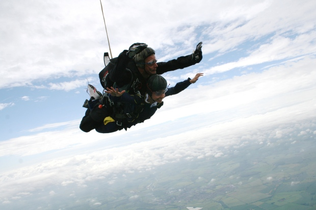 Tandem Skydive Photo Sibson Airfield Peterborough Cambridgeshire England UK