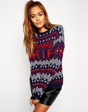 ASOS £35 - Christmas Jumper with Trainee Elf Slogan