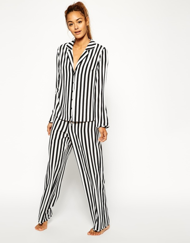 ASOS Mono Stripe Pyjama Bottoms £20 and Pyjama Top £18