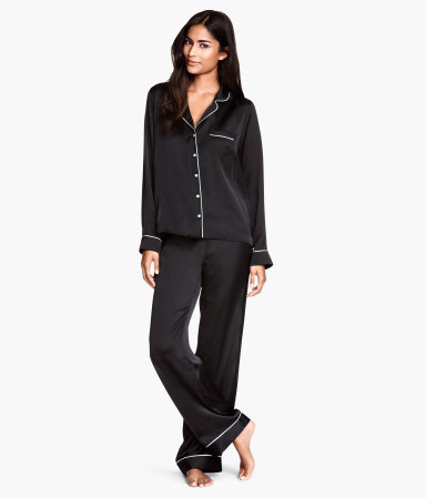 H&M Black Satin Pyjamas £24.99