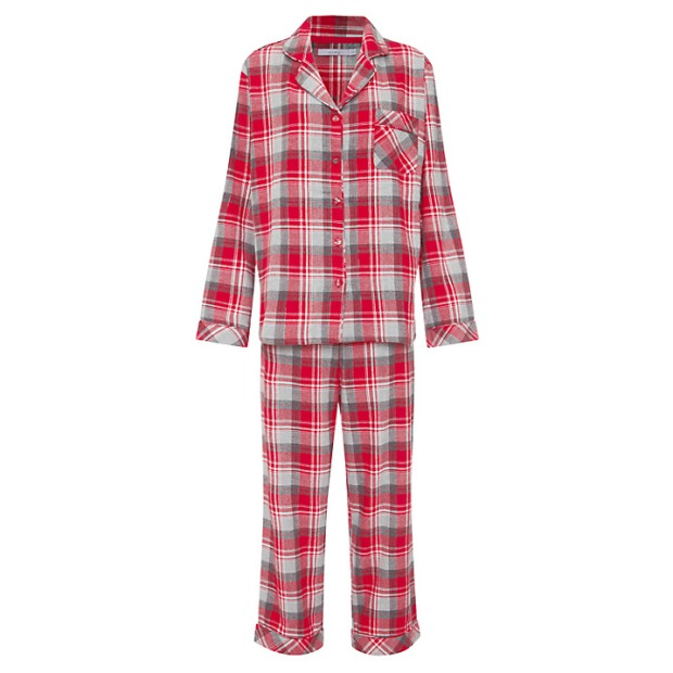 John Lewis Red Tartan Pyjama & Socks Gift Set £39