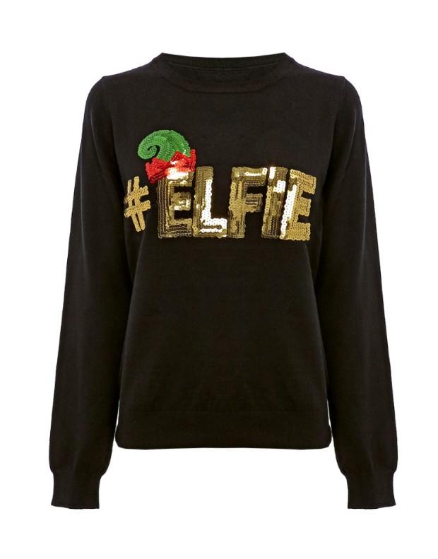 Lipsy #Elfie Sequin Christmas Jumper