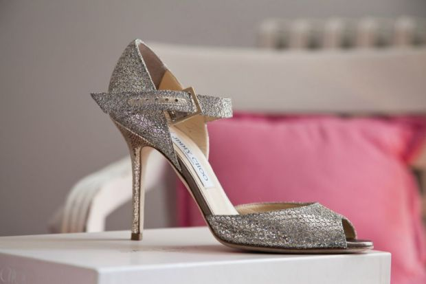 Jimmy Choo Wedding Shoes Champagne Gold Glitter Lace