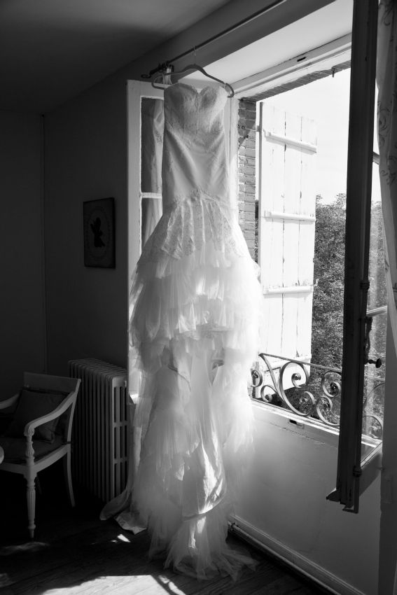 Wedding Dress inspired by and in style of Inbal Dror Chantilly Lace Cathedral Train