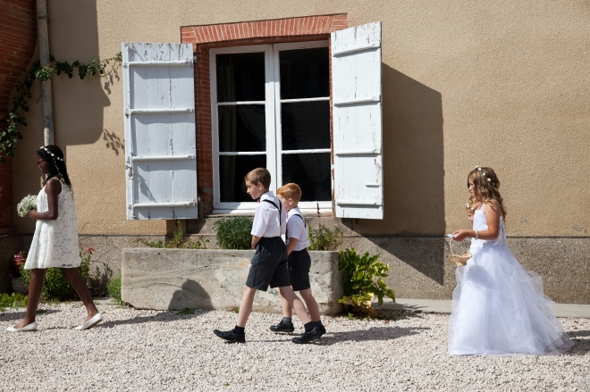 Page Boy Bridesmaids Chateau Wedding Attire Ideas