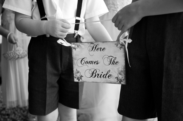 Here Comes The Bride Page Boy Sign