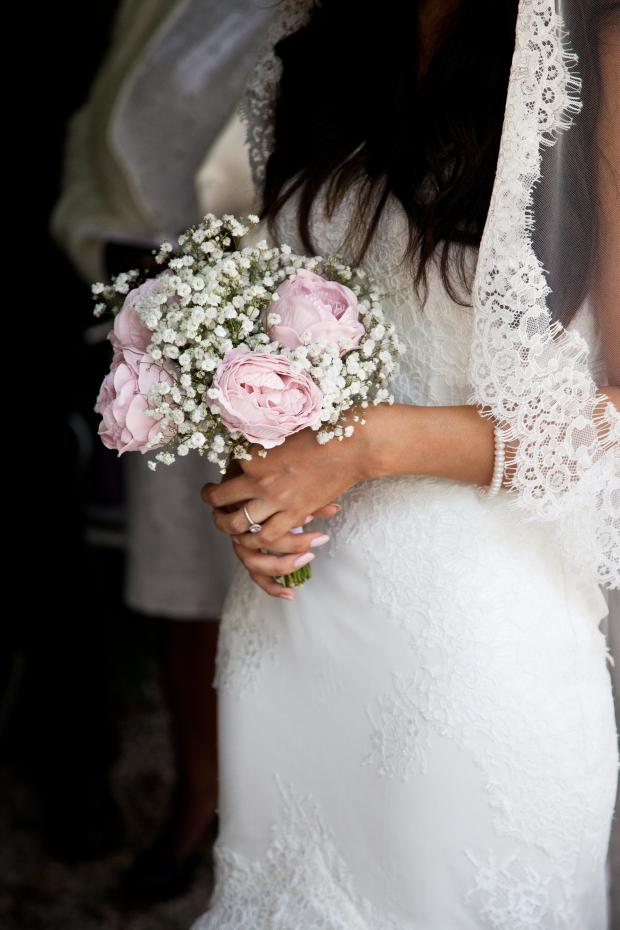 DIY Bridal Wedding Flowers Bouquet Peonies Gypsophila