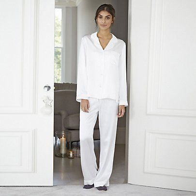 The White Company Piped Silk Alabaster Pyjama Set £120