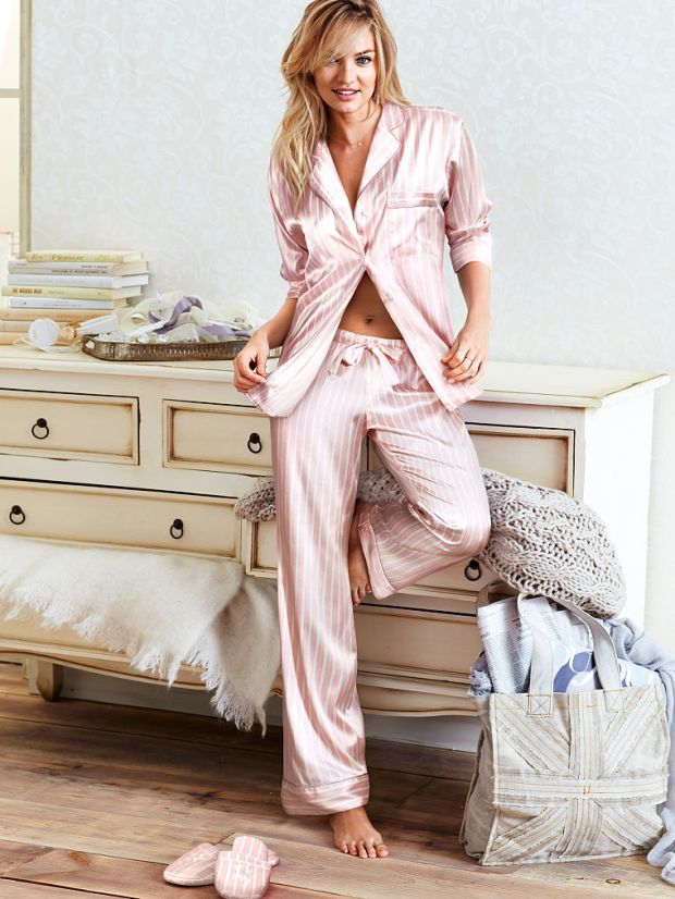 Victoria Secret Afterhours Satin Pyjamas