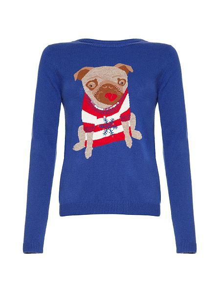 Yumi Pug Dog Christmas Jumper House of Fraser