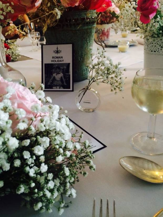 Films as Table Names Wedding