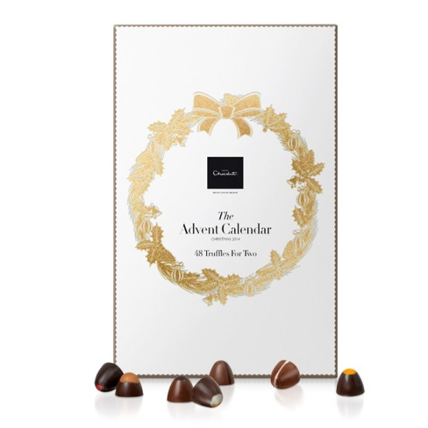 Hotel Chocolate Advent Calendar to share for couples luxury 2014
