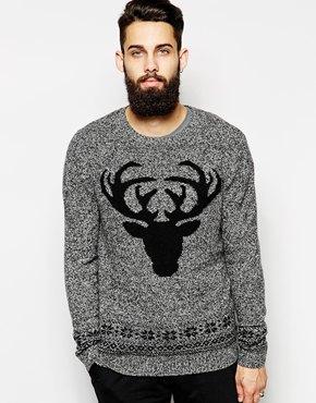 ASOS £38 - Lambswool Reindeer Christmas Jumper