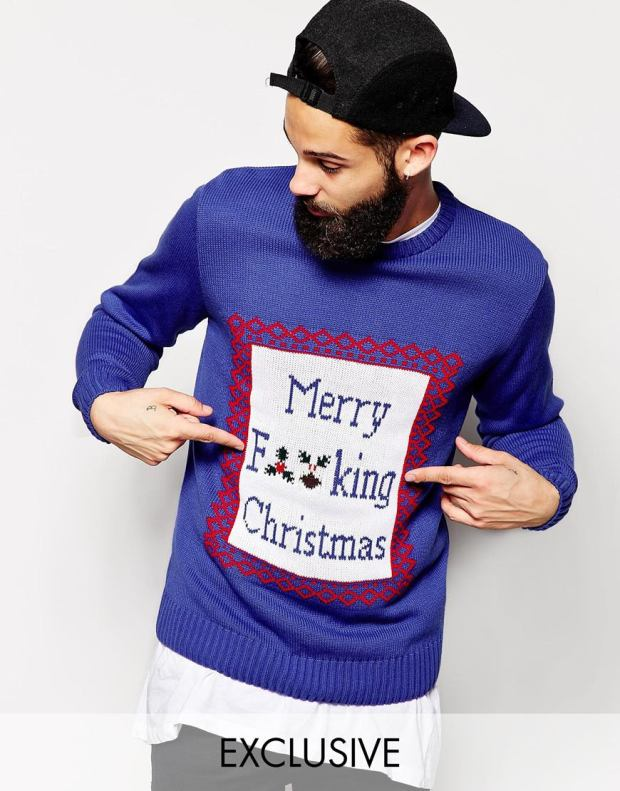 ASOS £40 - Reclaimed Vintage Christmas Jumper With Merry F**king Christmas