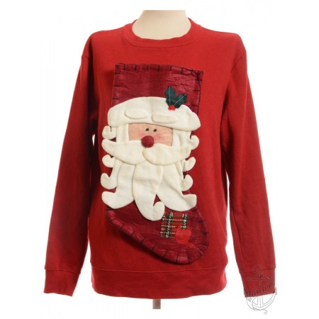 Beyond Retro £25 - Vintage Soft Santa Toy Christmas Jumper