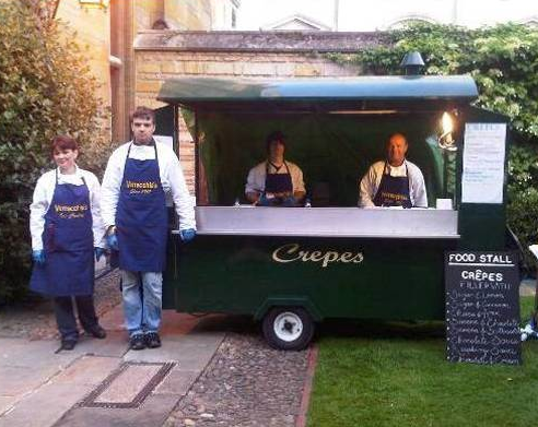 crepes party wedding evening catering cambridge cambridgeshire crepe van