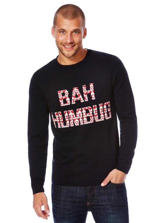 F&F at Tesco £16 - Bah Humbug Navy Christmas Jumper