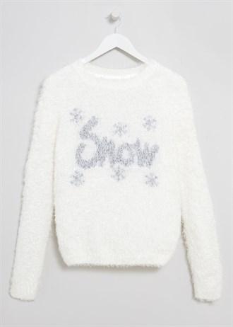 Matalan £18 - Fluffy Snow Christmas Jumper