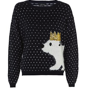 New Look £24.99 – Navy Christmas Party Polar Bear Jumper