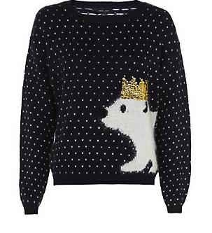 New Look £24.99 – Navy Christmas Party Polar Bear Jumper