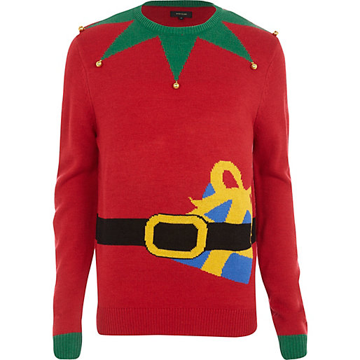 River Island £18.75 - Red Elf Christmas Jumper