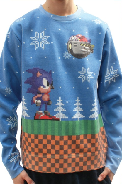 Yellow Bulldog £29.99 - Sonic the Hedgehog Christmas jumper